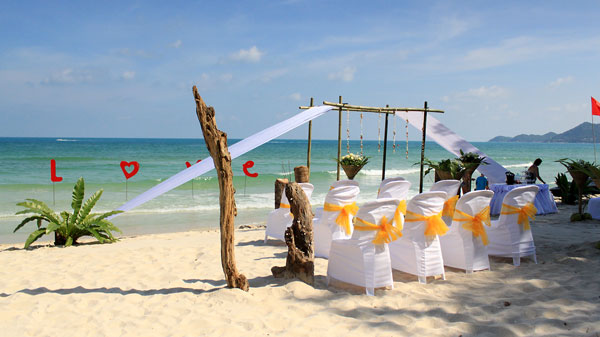 chaweng beach wedding samui